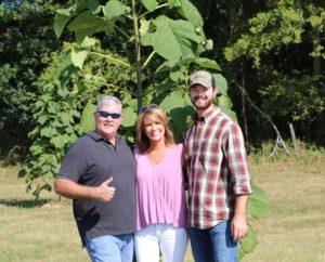 A photo of Jason (World Tree Farmer), Amanda and Jordan Humphries