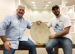 A photo of Jason Humphries (World Tree Farmer) and Nick Gobbett