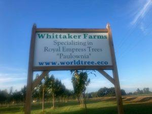 Whittaker farm sign